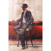 Ткань для вышивания бисером А3 КМЧ-3430 «Мужчина у стойки» 25*37 см