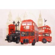 Ткань для вышивания бисером А3 КМЧ-3435 «Лондон» 25*37 см
