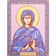 Канва с рисунком для вышивания бисером БИС 5116 «Св. Евгения Римская» 13*17 см