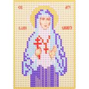 Ткань для вышивания бисером А6 иконы БИС Ж-045 «Св. Елизавета» 7,5*10,5 см