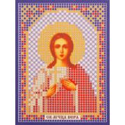 Ткань для вышивания бисером «Русская сказка ММ-016 Св. Муч. Вера» 8*11см