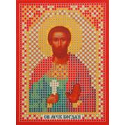 Ткань для вышивания бисером «Русская сказка ММ-014 Св. Муч. Богдан» 8*11см