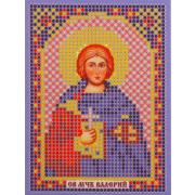 Ткань для вышивания бисером «Русская сказка ММ-019 Св. Муч. Валерий» 8*11см