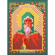 Ткань для вышивания бисером «Русская сказка ММ-038 Св. Пр. Геннадий» 8*11см