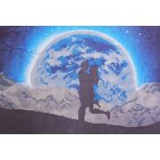 Ткань для вышивания бисером А3 КМЧ-3386 «Прогулка при луне» 25*37 см