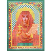 Ткань для вышивания бисером «Русская сказка ММ-028 Св. Муч. Анастасия» 8*11см