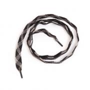 Шнурки  арт.162-П  6 мм 100 см №24 серый/чёрный