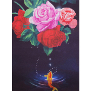 Ткань для вышивания бисером А3 КМЧ-3446 «Золотая рыбка» 25*34 см