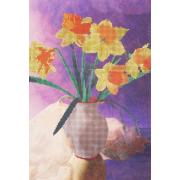 Ткань для вышивания бисером А3 КМЧ-3446 «Нарцисы» 25*36 см