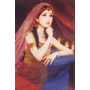 Ткань для вышивания бисером А3 КМЧ-3438 «Восточная принцесса» 25*36 см