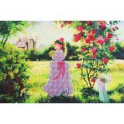 Ткань для вышивания бисером А3 КМЧ-3310 «Принцесса» 25*37 см