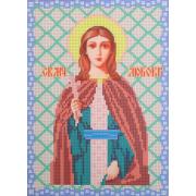Ткань для вышивания бисером А4 КМИ-4420 «Св. Муч. Любовь» 18*25,5 см