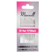 Иглы ручные Maxwell  max.552  №3-9 для синели и квилтинга ( уп 10 шт)