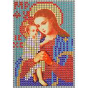 Ткань для вышивания бисером А6 иконы БИС Ж-012 «Взыскание погибших» 8*11 см
