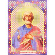 Ткань для вышивания бисером А6 иконы БИС ММ-050 «Апоспол Петр» 7,5*10,5 см