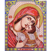 Ткань для вышивания бисером Благовест И-4063 Пр. Богородица Кардиотисса 20*25 см