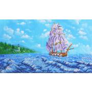 Ткань для вышивания бисером Благовест К-3032 У райских берегов 24*40 см