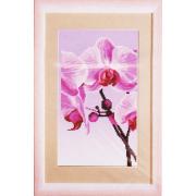 Ткань для вышивания бисером ЧМ СБ-296 Розовая Орхидея 17*30 см