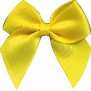 Бант пришивной JY100044 3,3 см желтый