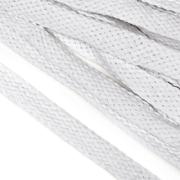 Шнур плоский 15 мм х/б  уп 25 м турецкое плетение 001 отбелка