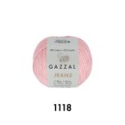 Пряжа Джинс-GZ (Gazzal, Jeans-GZ), 50 г / 170 м, 1118 розовый