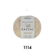 Пряжа Джинс-GZ (Gazzal, Jeans-GZ), 50 г / 170 м, 1114 бежевый