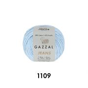Пряжа Джинс-GZ (Gazzal, Jeans-GZ), 50 г / 170 м, 1109 голубой