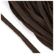 Шнур плоский 15 мм х/б  уп 25 м турецкое плетение 016 коричневый