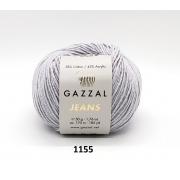 Пряжа Джинс-GZ (Gazzal, Jeans-GZ), 50 г / 170 м, 1155 св.серый
