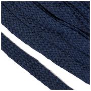 Шнур плоский 15 мм х/б  уп 25 м турецкое плетение 024 т. синий