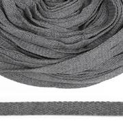 Шнур плоский 15 мм х/б  уп 25 м турецкое плетение 029 серый