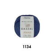 Пряжа Джинс-GZ (Gazzal, Jeans-GZ), 50 г / 170 м, 1134 синий