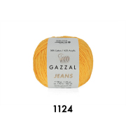Пряжа Джинс-GZ (Gazzal, Jeans-GZ), 50 г / 170 м, 1124 желток