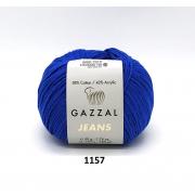Пряжа Джинс-GZ (Gazzal, Jeans-GZ), 50 г / 170 м, 1157 василек