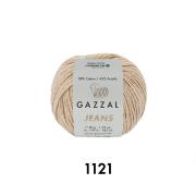 Пряжа Джинс-GZ (Gazzal, Jeans-GZ), 50 г / 170 м, 1121 бежевый