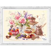Набор для вышивания Чудесная Игла  №120-203 «На чашечку кофе!» 28*40 см