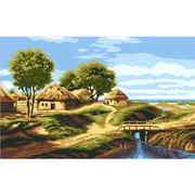Набор для вышивания Нитекс 2167 «Деревенька» 45*33 см