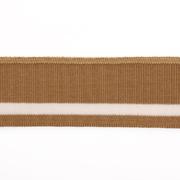 Подвяз трикотажный п/эTBY73068 св. коричневый с белой полосой 3,5*80 см