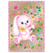 Набор для творчества Клевер АС 43-241 «Зайка с цветами» (антистресс) 21*29,5 см