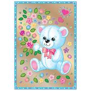Набор для творчества Клевер АС 43-242 «Мишка с цветами» (антистресс) 21*29,5 см