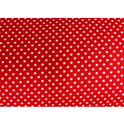 Ткань 48*50 см 120 г/м2 «Мелкий горошек» 100% хлопок 25738 красный 541888