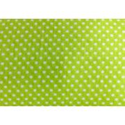Ткань 48*50 см 120 г/м2 «Мелкий горошек» 100% хлопок 25739 зеленый 541890
