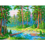 Рисунок на канве М.П. Студия СК-070 «Лесная речка» 40*50 см
