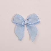 Бант пришивной JY100044 3,3 см голубой 333