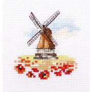 Набор для вышивания Алиса 0-197 «Мельница в маковом поле» 7*7 см