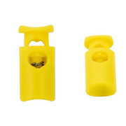 Фиксатор пласт. 203-М «цилиндр» малый 9*19 мм 1 шнур уп. 4 шт 557107 желтый