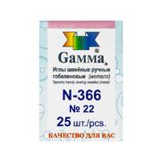 Иглы ручные Гамма N-366 гобеленовые №22  (уп. 25 шт.)