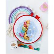 Набор для вышивания АБРИС АНМ-044 «Спящий жирафик» 15*15 см