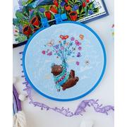 Набор для вышивания АБРИС АНМ-047 «Полетели?» 15*15 см