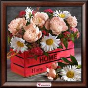 Алмазная мозаика АЖ-1882 «Букет домашнее тепло» 40*40 см
